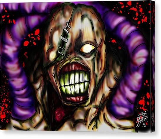 Resident Evil Canvas Print - Nemesis  by Pedro Lazo