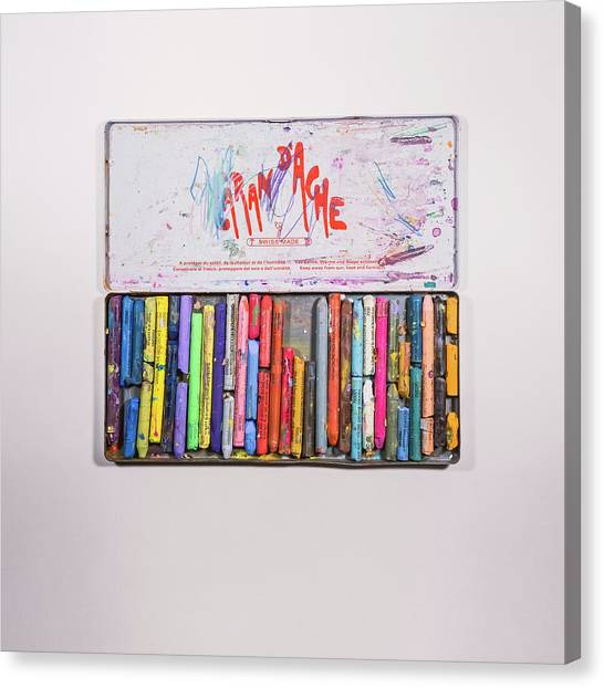 Crayons Canvas Print - Neocolor II by Scott Norris