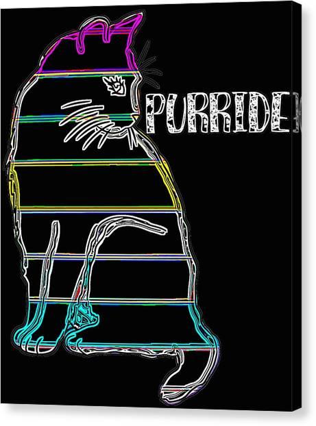 Ocicats Canvas Print - Neon Cat Purride by Kaylin Watchorn