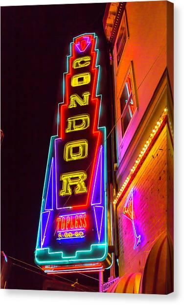Condors Canvas Print - Neon Condor San Francisco by Garry Gay