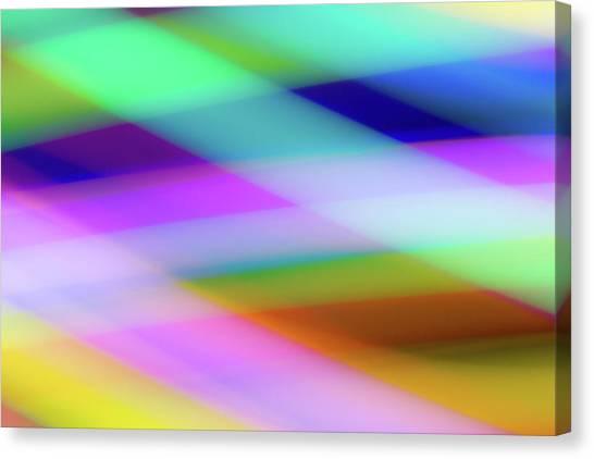 Neon Crossing Canvas Print