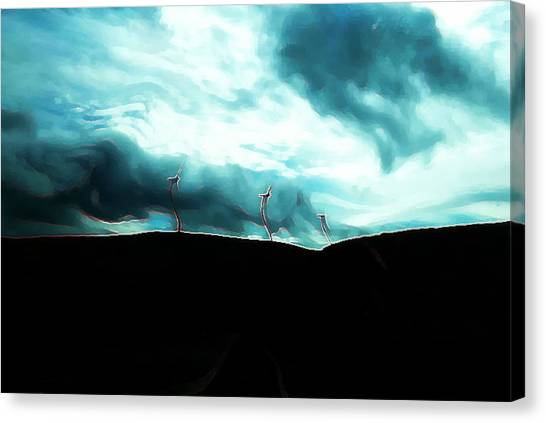 Heaven Canvas Print - Neon Crucible by Angeline Mcgraw