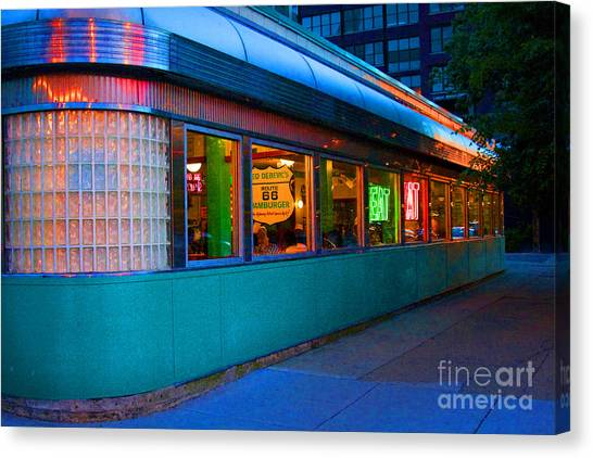 Neon Diner Canvas Print