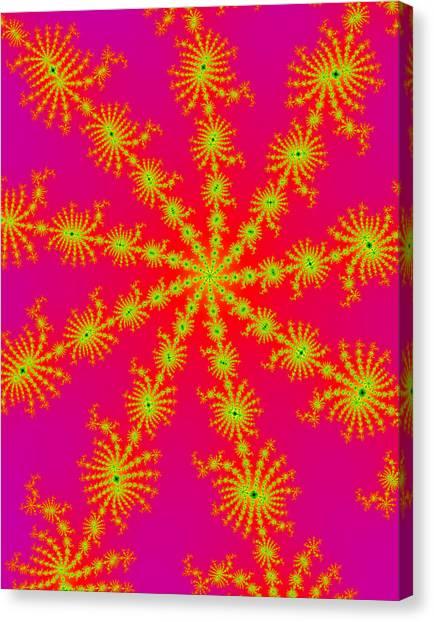 Neon Fractals Canvas Print