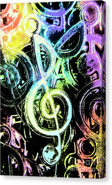 Neon Canvas Print - Neon Notes by Jorgo Photography - Wall Art Gallery