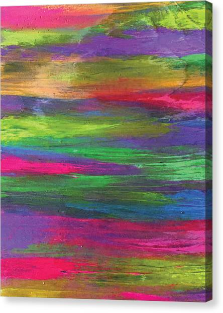 Neon Rainbow Canvas Print