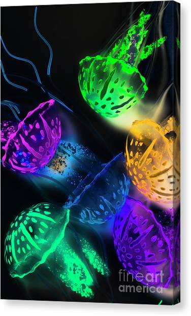 Biology Canvas Print - Neon Sea Life by Jorgo Photography - Wall Art Gallery