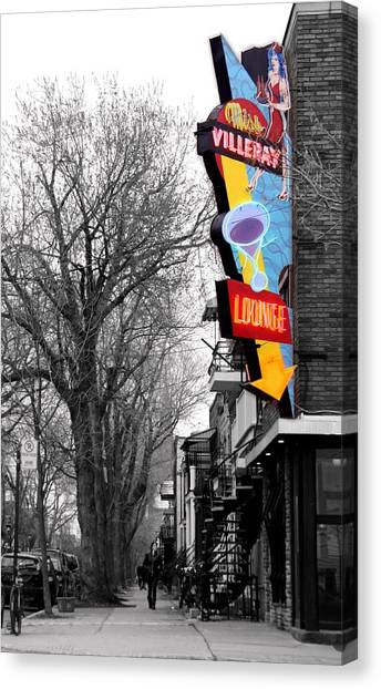 Neon Strip Canvas Print by Russell Styles
