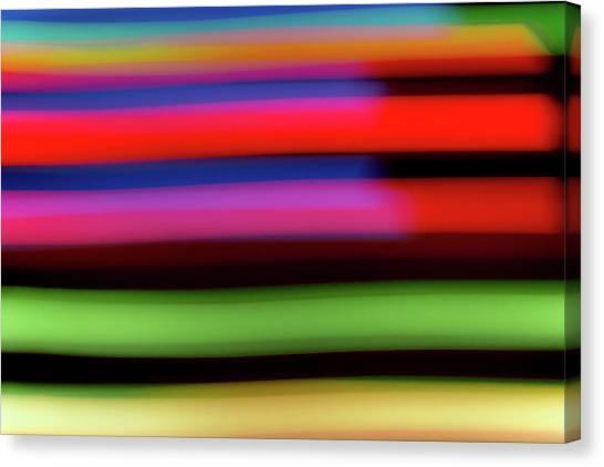 Neon Stripe Canvas Print
