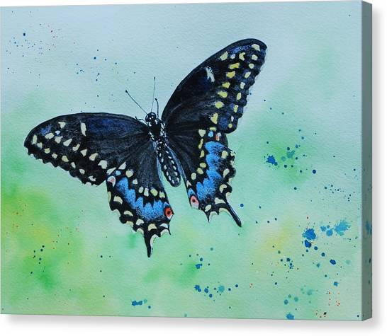 Neon Swallowtail Canvas Print