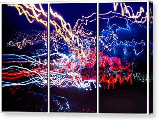 Neon Ufa Triptych Number 1 Canvas Print