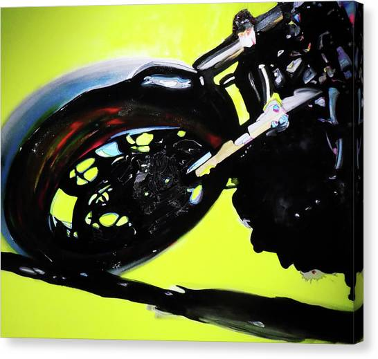 Street Fighter Canvas Print - Neon Yellow by David Jack