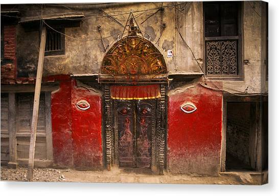 Nepalese Door Canvas Print