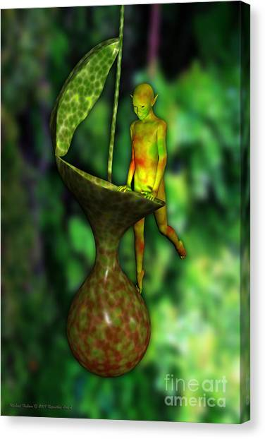 Nepenthes Pixi 2 Canvas Print by Michael Hallam