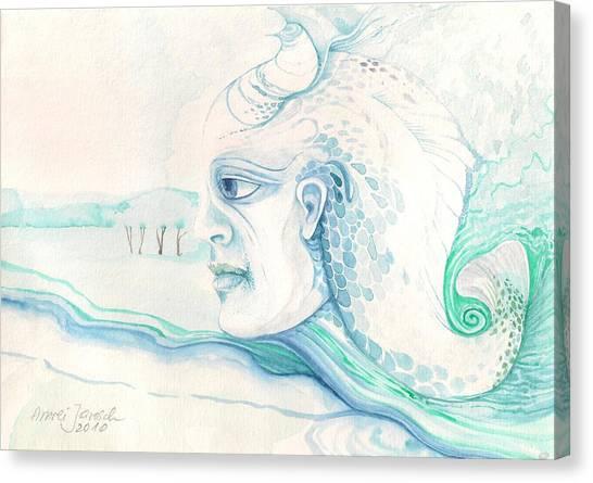 Neptune Canvas Print by Amrei Al-Tobaishi-Jarosch