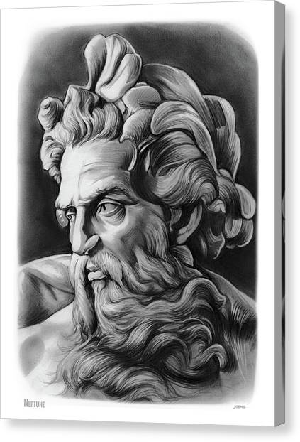 Greek Canvas Print - Neptune by Greg Joens