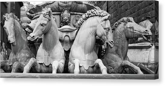 Neptune's Horses Canvas Print