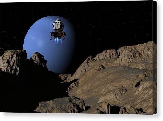Neptunes Moon Proteus Canvas Print
