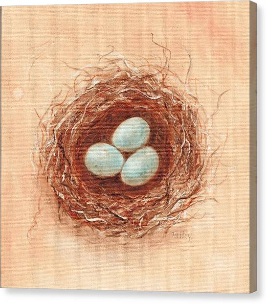 Nest In Umber Canvas Print