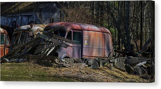Trucks Canvas Print - Nesting by Jerry LoFaro