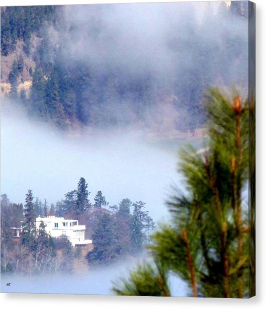 Oyama Canvas Print - Nestled In The Fog by Will Borden