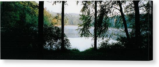 Nestling Lake Canvas Print by Tom Hefko