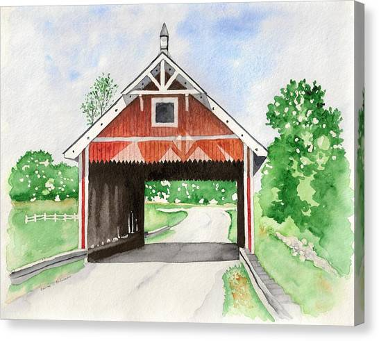 Netcher Road Bridge Canvas Print by Laurie Anderson