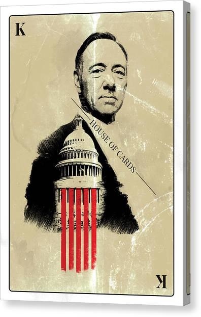 Netflix House Of Cards Frank Underwood Portrait  Canvas Print