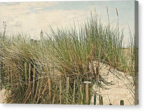 Netherlands - Dunes And Lighthouse Canvas Print