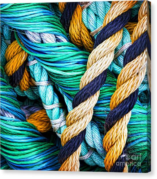 Rope Canvas Print - Nets And Knots Number Five by Elena Nosyreva