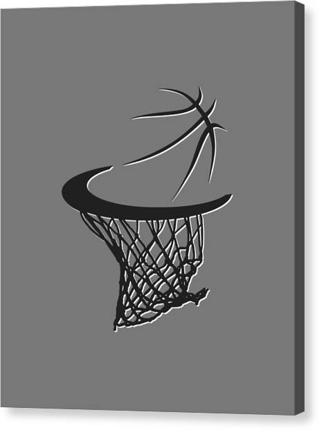 Brooklyn Nets Canvas Print - Nets Basketball Hoop by Joe Hamilton