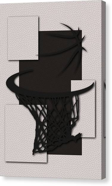 Brooklyn Nets Canvas Print - Nets Hoop by Joe Hamilton