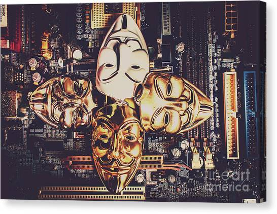 Computers Canvas Print - Network Of Anons by Jorgo Photography - Wall Art Gallery