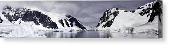 Neumeyer Channel - Antarctica Canvas Print
