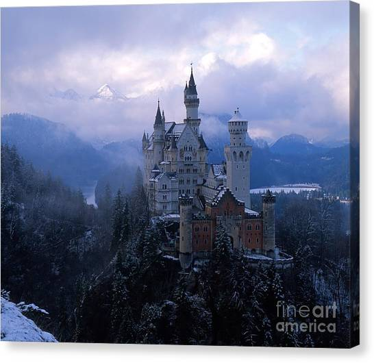 Medieval Canvas Print - Neuschwanstein by Don Ellis