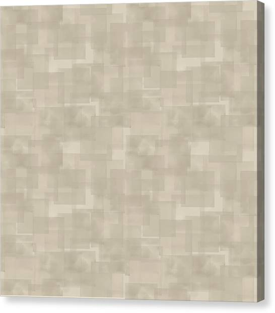 Neutral Brown Abstract Pattern Canvas Print