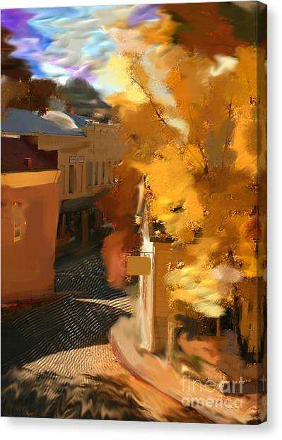 Nevada City In Fall Canvas Print