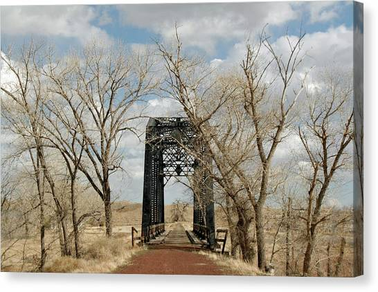 Nevada Railroad Bridge Canvas Print