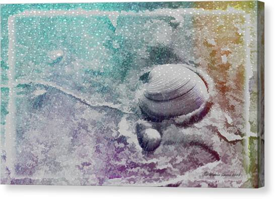 Clams Canvas Print - Never Clam Up by Marvin Spates
