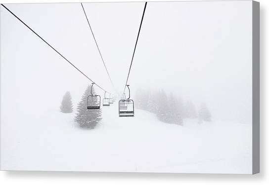 Skiing Canvas Print - Never End by Happy Home Artistry