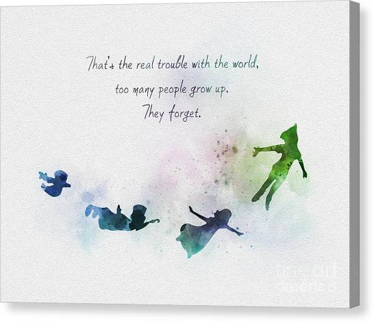 Peter Pan Quotes Canvas Prints Fine Art America