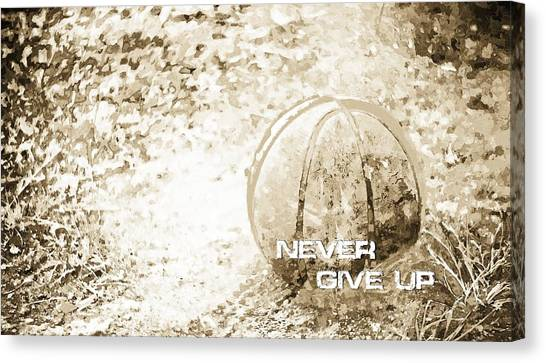 Never Give Up Hebrews Chapter 11 Canvas Print