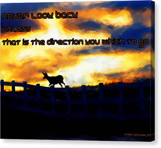 Never Look Back Unless Canvas Print
