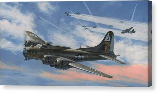 B-17 Canvas Print - Never Turned Back by Wade Meyers