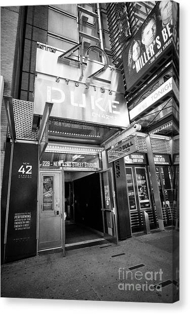 New York Red Bulls Canvas Print - New 42nd Street Not-for-profit Studios New York City Usa by Joe Fox