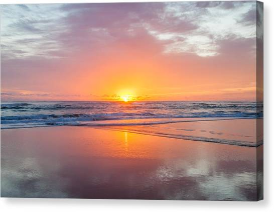 Sunrise Horizon Canvas Print - New Beginnings by Az Jackson