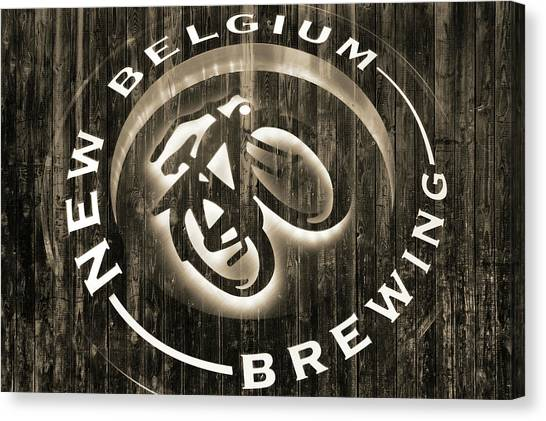 Craft Beer Canvas Print - New Belgium Brewing by Dan Sproul