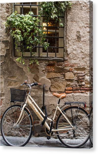 New Bike In Old Lucca Canvas Print