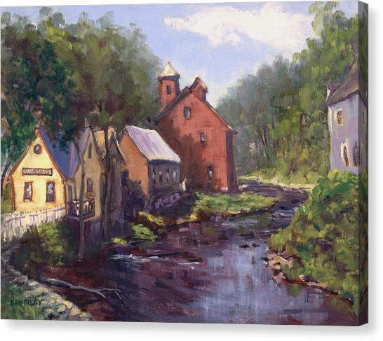 New Boston On The River Canvas Print
