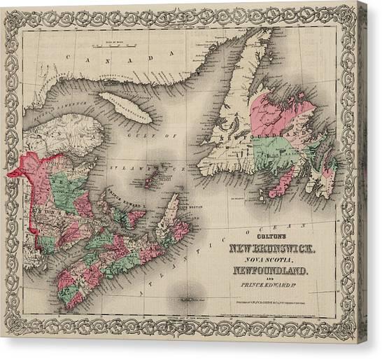Prince Edward Island Canvas Print - New Brunswick, Nova Scotia, Newfoundland. And Prince Edward Island by Colton